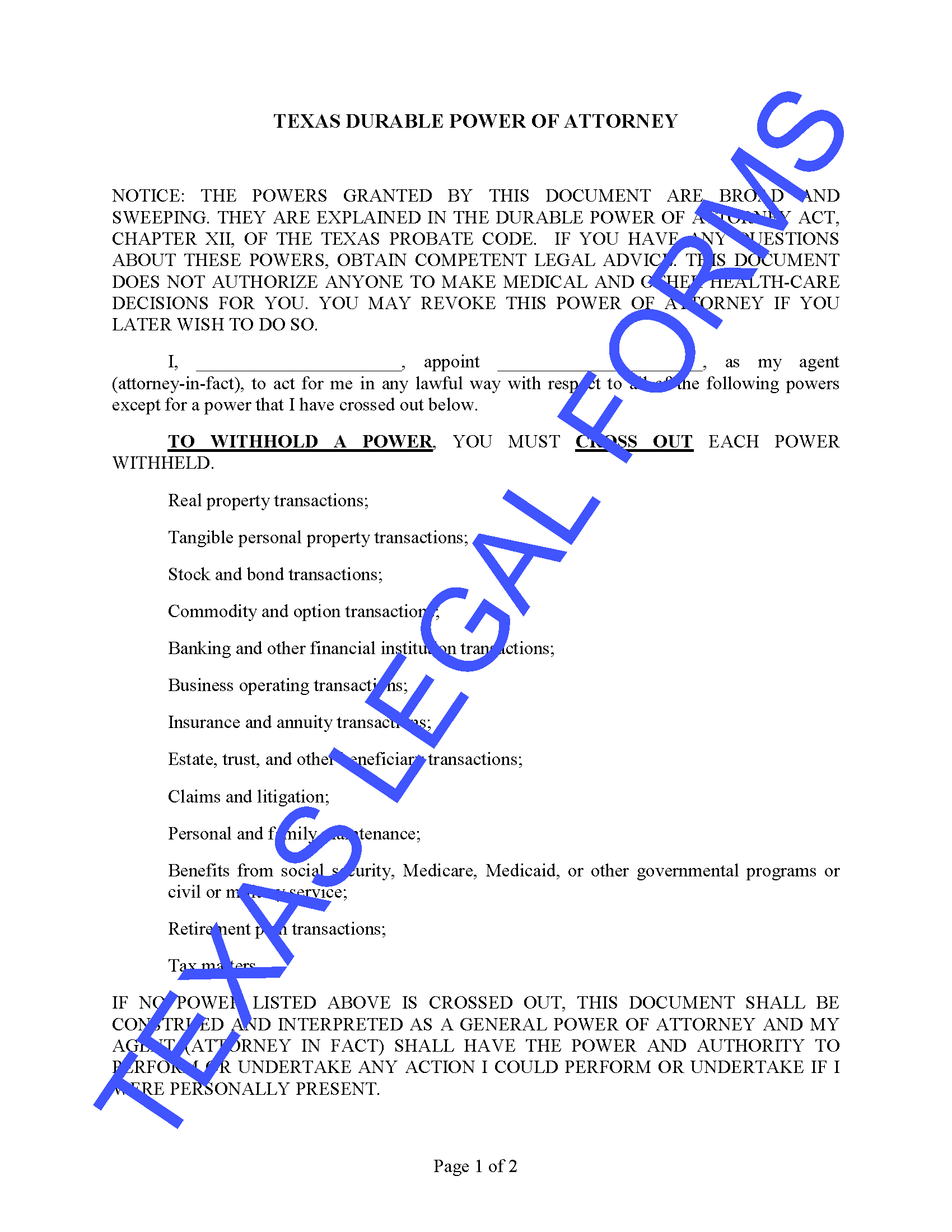 Products Archive - Texas Legal Forms by David Goodhart, PLLC