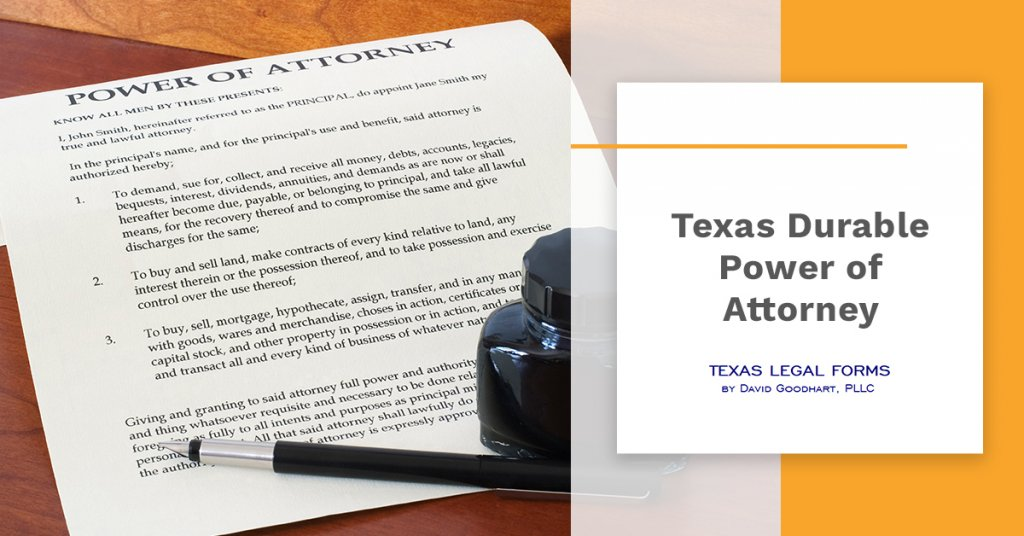 Texas Durable Power of Attorney